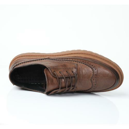 Details about  /Mens Low Top Faux Leather Shoes Brogue Business Work Office Lace up Oxfords 44 L