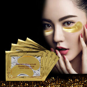 10Pc-Gold-Crystal-Collagen-Eye-Mask-Patch-Anti-Ageing-Wrinkle-Moisturising-New