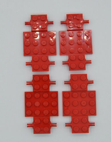 LEGO 4 x Fahrgestell 4x7x 2//3 Auto LKW Unterbau Platte rotred chassis 2441