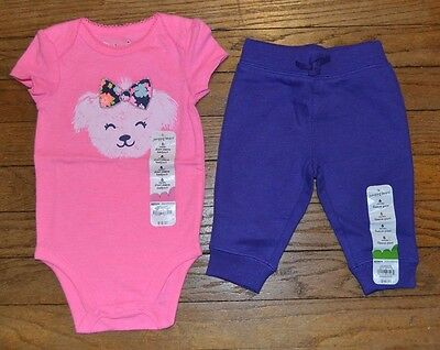 Jumping Beans Dog with Bow  One Piece Snap Suit 12 Month Short Sleeve Bodysuit