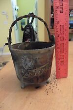 Vintage Brass Presentation Pot Mortar From Cortina D'Ampezzo Italy 1963 squirrel