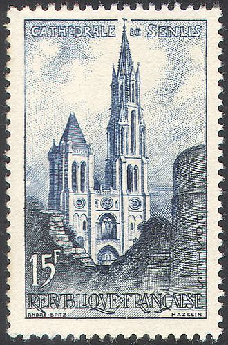 France 1958 Senlis Cathedral/Buildings/Architecture/Religion/Churches 1v n41904