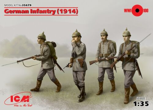 ICM 35679 WWI German infantry 1914 1//35 unassembled model kit