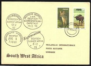 South West Africa Cover Okakarara 29.08.1985 Philatelic Cover - Münster, Deutschland - South West Africa Cover Okakarara 29.08.1985 Philatelic Cover - Münster, Deutschland