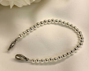 Sterling-Silver-Bead-Beaded-Medical-Medic-ID-Replacement-Bracelet-MA111