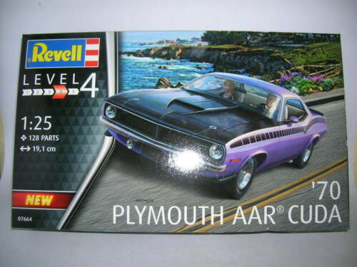 07664 US-Car Revell /'70 Plymouth AAR Cuda Bausatz Model Kit 1:25 Art