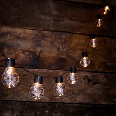 10 Led Solar Powered Outdoor Lampadina Retrò Stringa Festone Lampada Luce Giardino Estate-