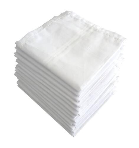 100/% Cotton Premium Collection Handkerchiefs White/_46X46 Cm Pack of 12