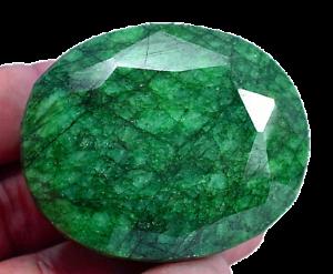 375.10 Ct Natural Huge Green Emerald AGSL Certified Museum Grade Gemstone