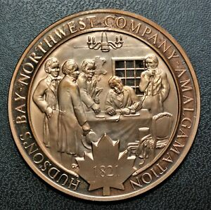 1821 H.B. Co. & N.W. Co. Amalgamation: 1972 History of Canada Proof Bronze Medal