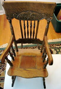 Doll and Antique Rocking Chair