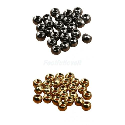 25 Fly Tying Slotted Tungsten Ball Beads 2.4//3.3//4//4.6mm Very Dense Deep Sinking