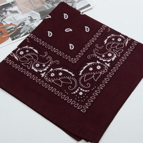 55*55Cm Large Square Paisley Cotton Kerchief Sports Bandana Headwear Colorful