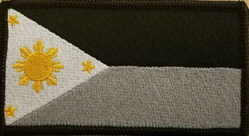 Philippines Flag Patch W// VELCRO® Brand Fastener Tactical Filipino Emblem #7