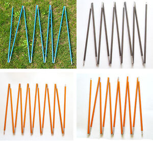 Outdoor Camping Hiking 9 Sections Aluminum Alloy Tent Poles 8.5mm 360cm