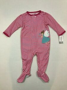 0cc46d704805 Carters NWT 24 Months Girls 1 Piece Polyester Footed Pajamas Fairy ...