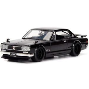 Jada-Toys-99686-Brian-039-s-Nissan-GT-R-2000-Hako-Coche-Modelo-1-24th-Rapido-y-Furioso