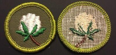 Vintage Boy Scout Merit Badge Type F Rolled Edge Khaki Twill Corn Farming