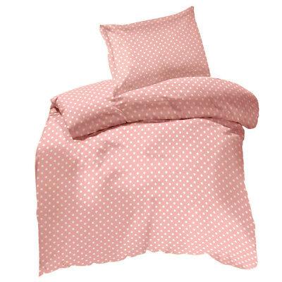 Cotton Single Duvet Cover Set Pink, Pink Polka Dot Bedding