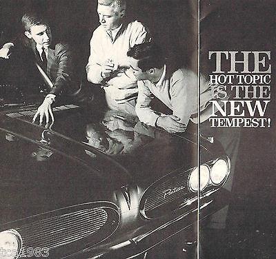 1961 Pontiac Tempest Introduzione Distributore Opuscolo/catalog: Safari Wagon,