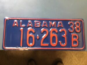 Alabama Car Tags >> Details About Alabama License Plates Car Tags 1938