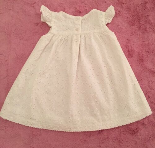 336e23561 4 of 11 Nordstrom Baby Girl 6 Months White Eyelet dress W bloomers NWOT
