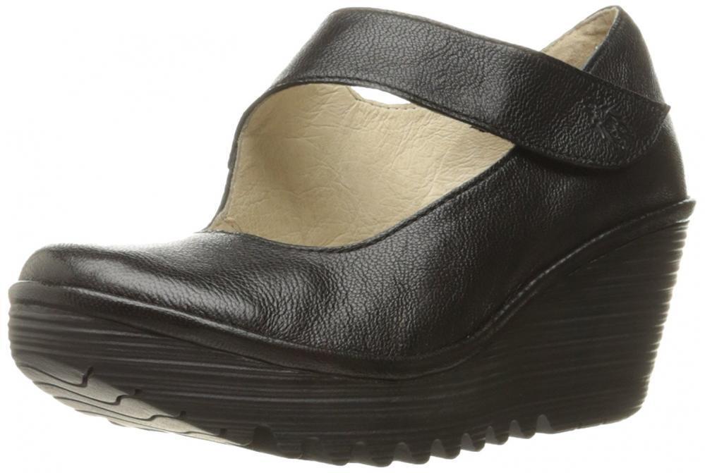 FLY London Donna Yasi682fly Wedge Pump Pelle Platform Strap Sandal High Heel