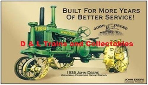 Billboard for Plasticville Holder John Deere Tractor 1933 Built for More Ye