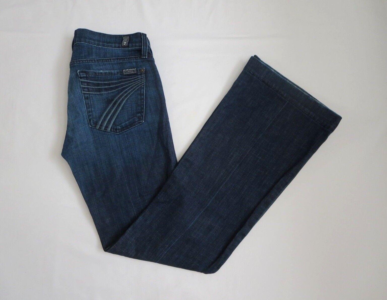 7 For All Mankind Damen Dojo Größe 27 Ausgestellte Jeans Dunkle Waschung