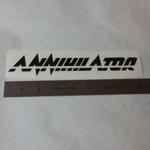 ANNIHILATOR Vinyl DECAL STICKER Thrash Metal Band Guitar Logo Window LP
