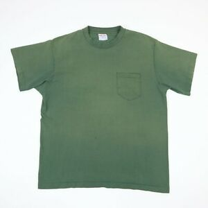 Vtg-90s-Sun-Faded-Single-Stitch-Plain-Blank-T-Shirt-Grunge-Skate-Workwear-USA-L