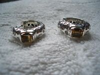 925 Sterling Silver Earrings With Citrine