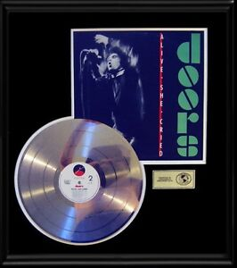 THE-DOORS-JIM-MORRISON-RARE-ALIVE-SHE-CRIED-GOLD-RECORD-PLATINUM-DISC-ALBUM