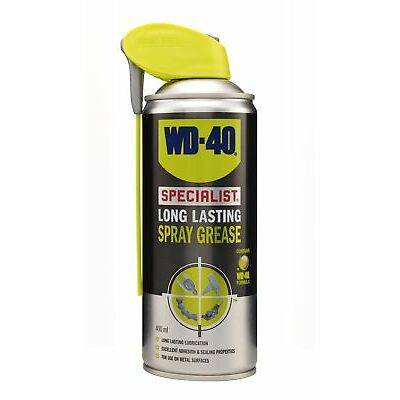 WD-40 44125 Specialist Long Lasting Spray Grease 400ml Smart Straw Lubricant