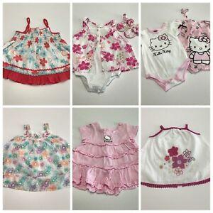 Baby-Girls-Size-000-Lot-Pumpkin-Patch-Hello-Kitty-Summer-Dress-Shoes-Cute-G192