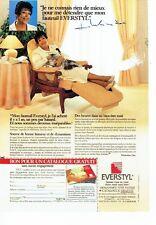 PUBLICITE ADVERTISING 126  1990   les fauteuils relax Everstyl &  Micheline Dax