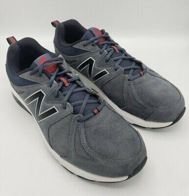 New Balance 857V2 Suede Athletic Training Shoe MX857CH2 Men Size 14 2E Wide Blue | eBay