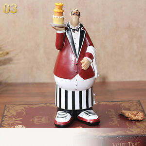 Vintage Resin Kitchen Chef Cook Figures Statue Cake Shops