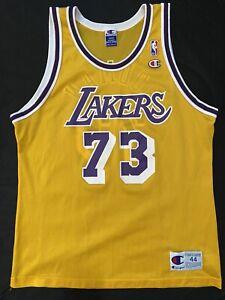 dennis rodman lakers champion jersey size 44 large   eBay