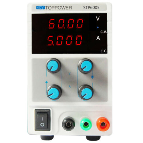 60V 5A DC Regulated Power Supply Adjustable Digital Variable Lab Grade 110V//220V