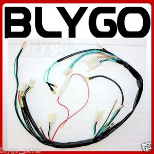 s l300 kick electric start engine wire wiring harness loom light wire engine wiring harness at bayanpartner.co