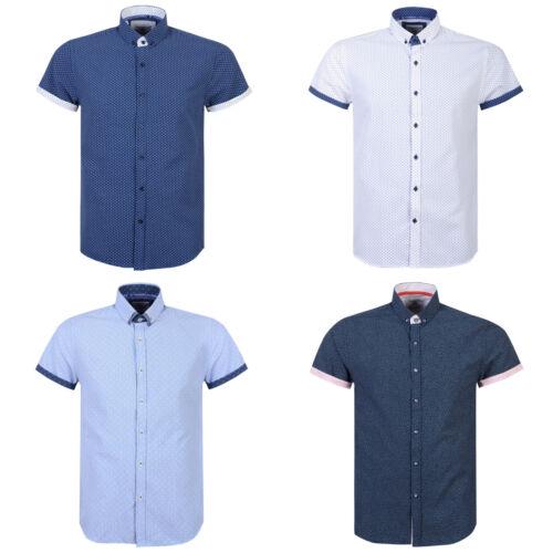 Mens Shirt Thomson /& Richards Print Designers Short Sleeve Casual Shirt