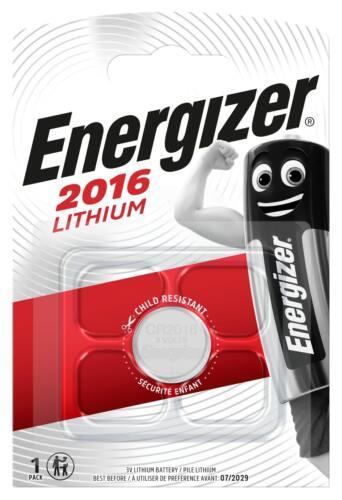 1 x Energizer CR 2016 3V Batterie Lithium Knopfzelle DL2016 im Blister 100mAh
