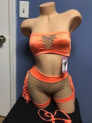 M//  Exotic Dancer Stripper Clothes Stripperwear  Outfit With Mask
