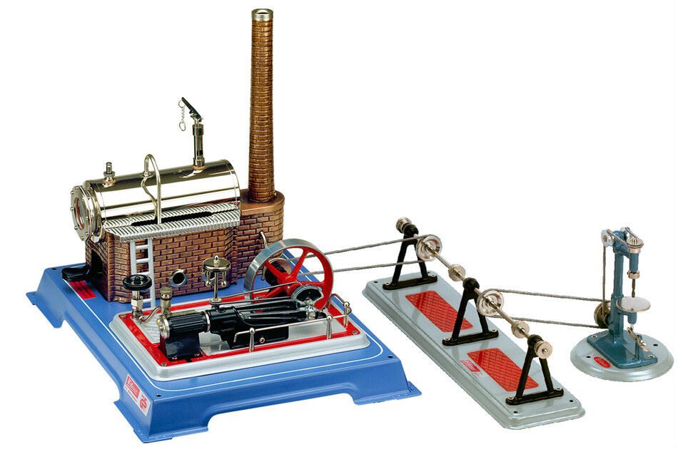 Wilesco D 165 Super Saver Set Live Steam Engine Toy - Shipped from USA