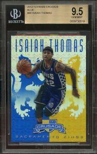 2012-13-panini-crusade-blue-48-ISAIAH-THOMAS-boston-celtics-rookie-card-BGS-9-5