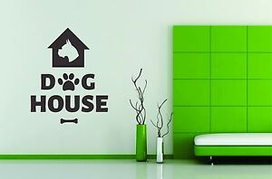 Wall Stickers Vinyl Decal Decor Dog House Pet Paw Friend Mural Decoration Room