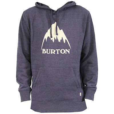 Large Gray Heather Burton Mens Classic Mountain Pullover Hoodie
