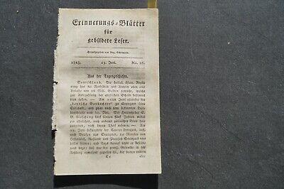 Fein 1823 Erinnerungsblätter 26 / Krieg In Spanien / Portugal