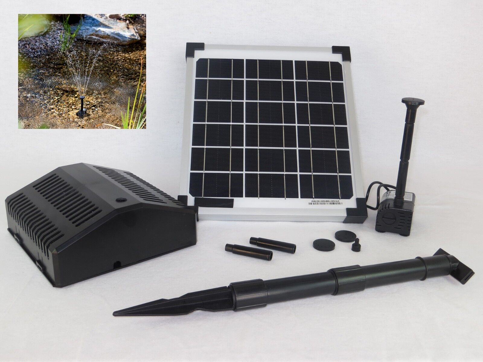 10 W Solarpumpe Filter Teichpumpe  Solar Garten Teich Pumpe Springbrunnen Teiche